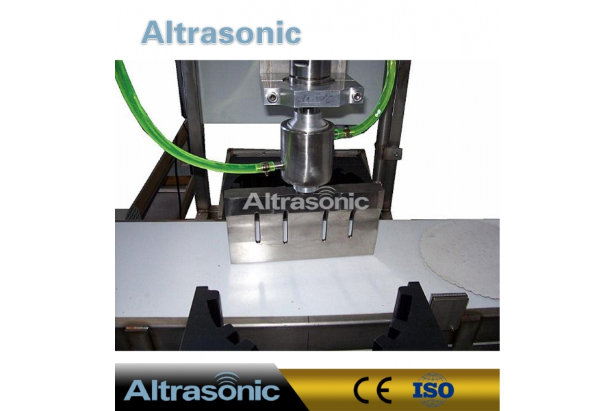 20K Ultrasonic Food Slider or Cutting Blade Fixed on Robot Arm or Lines